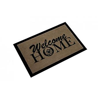 Doormat dirt trapping pad welcome home Brown 40 x 60 cm. 101858