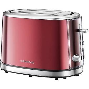 Grundig TA6330 Toaster with home baking attachment Red (metallic), Stainless steel