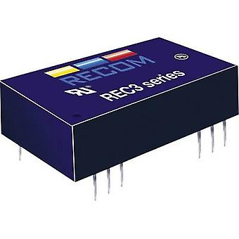 RECOM REC3-2405SR/H1 REC3-2405SR/H1 3W DC/DC ממיר REC3-2405SR/H1 24 V DC 5 V DC 600 mA 3 W