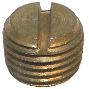 Big A Service Line 3-21740 Brass Slotted Head Plug 1/4""