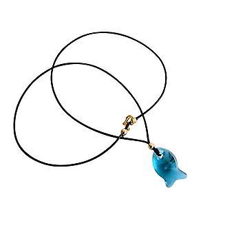 Gemshine halskjede anheng fisk blå laget med SWAROVSKI ELEMENTS®