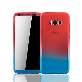 Samsung Galaxy S8 Schutzcase pleine de logement mobile couvrent 360 film de protection écran rouge / bleu