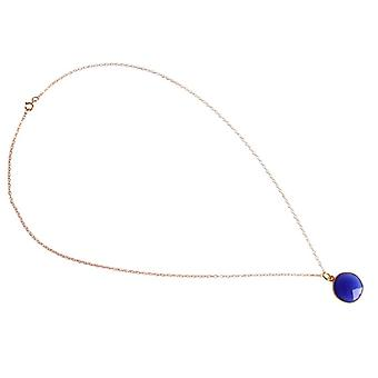 Onyx ædelsten halskæde blå Onyx forgyldt halskæde damer halskæde
