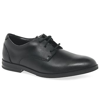 Clarks Rufus Edge Bootleg Boys School Shoes