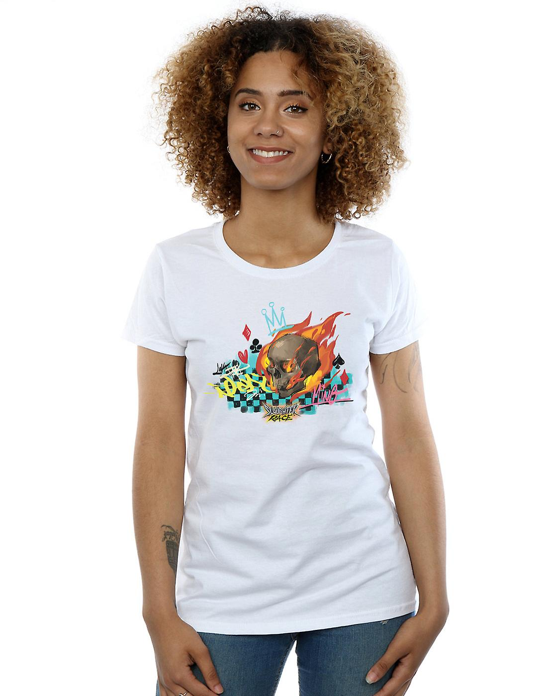 Disney Women's Wreck It Ralph Race Skull T-Shirt