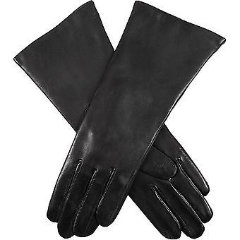 Bosses Helene Cachemire rayé gants en cuir de moutons - noir