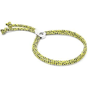 Anchor and Crew Pembroke Silver and Rope Bracelet - Yellow Noir
