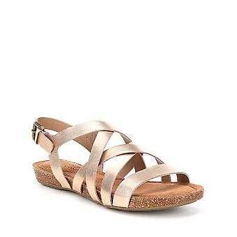 Adam Tucker Womens Nickie-5 Leather Open Toe Casual Strappy Sandals