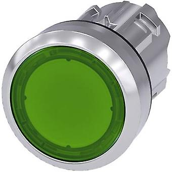 Siemens SIRIUS ACT 3SU1051-0AB40-0AA0 Illuminated push button Planar, Front ring (steel), Glossy Green 1 pc(s)