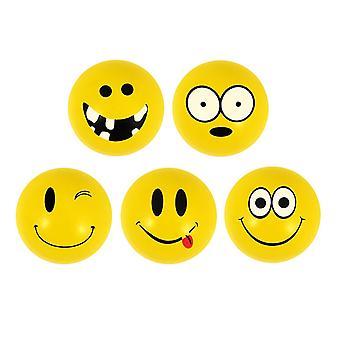 6-Pack Smiley Emoticons Små Super Studsbollar Lek Boll Spel