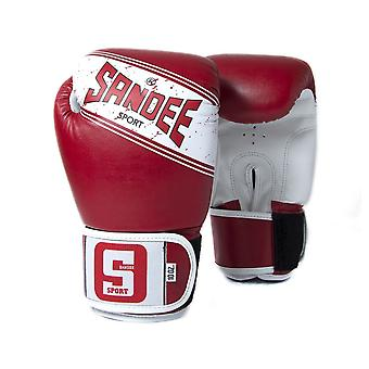 Sandee Sport Velcro 2 tono guantoni rosso/bianco