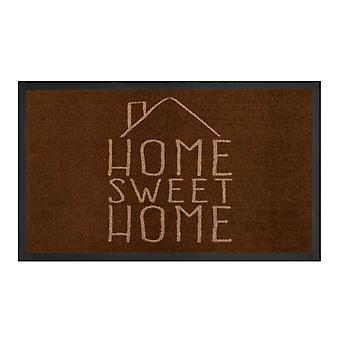 Piégeage de saleté pad maison douce maison brun crème 45 x 75 cm
