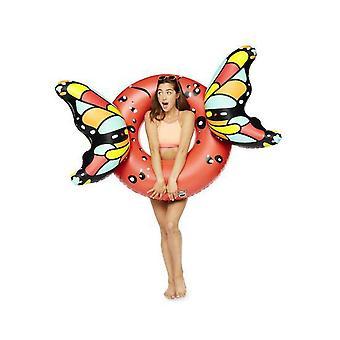 Grande bouche Inc - ailes de papillon géant piscine flotteur (rouge)