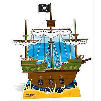 Piratenschip Grote Kartonnen Uitsnede / Standee