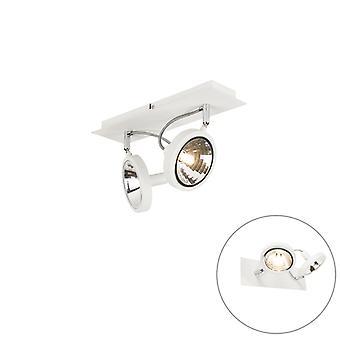 QAZQA Design spot weiß 2-licht verstellbar - Nox