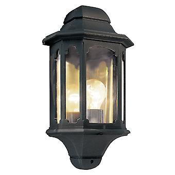 Chapelle demi lanterne noire - éclairage Elstead