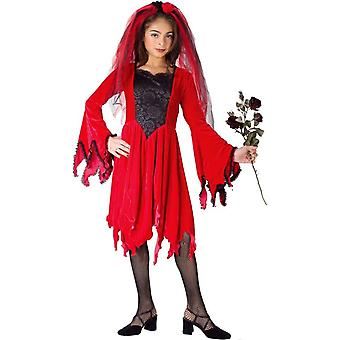 Red Bride Child Costume