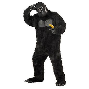 Gorilla Goin' Ape King Kong Jungle Animal Deluxe Mascot Mens Costume Plus Size