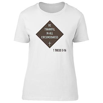 Be Thankful 1 Thess 5:16 Tee Men's -Image by Shutterstock