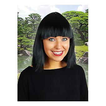 Samantha di parrucca parrucche nero