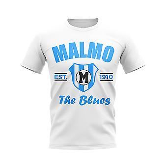Malmo etablert fotball t-skjorte (hvit)
