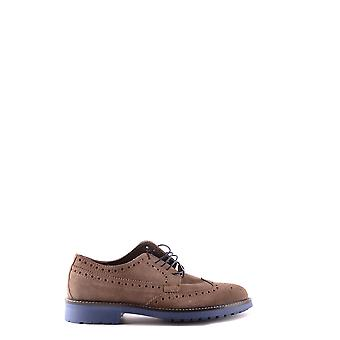 Trussardi Ezbc149005 Män's Brown Mocka Lace-up Skor