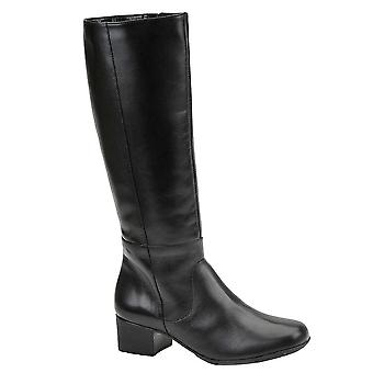 Walking Cradles Womens Mix Leather Almond Toe Knee High Fashion Boots