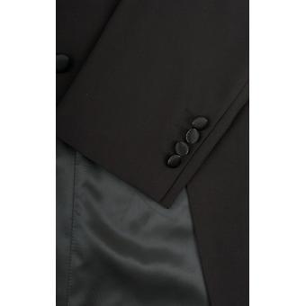Dobell męskie wieczorowe czarny biały krawat frak kurtka regularny krój