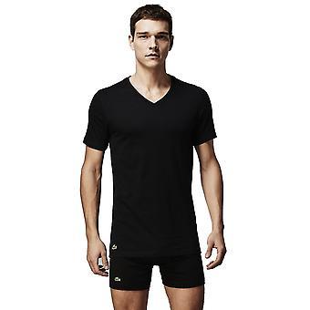 Lacoste V-Neck 3 Pack T-shirts Black