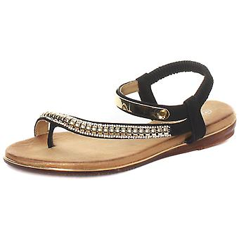 Cipriata Iris Jewelled Womens Halter Back Sandals  AND COLOURS