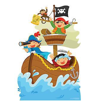 Piratskip eventyr mini papp utklipp/standee