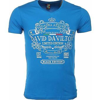 T-shirt-Black Edition Print-Blue