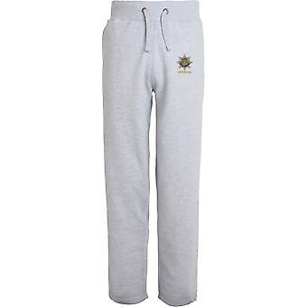 Royal Anglian Regiment Veteran - Licensed British Army Embroidered Open Hem Sweatpants / Jogging Bottoms