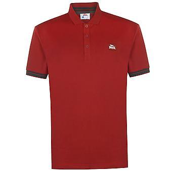 Lonsdale Mens Jersey camisa pólo clássico Fit tee Top manga curta botão placket