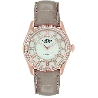 Mondia mistral lady Japanese Quartz Analog Women Watch with Mi738R-1CP Cowskin Bracelet