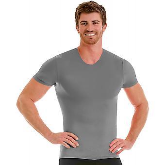 Insta Slim Pro Active Wear Crewneck Compression Sous Chemise - Forza Gray