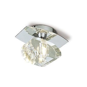 Mantra Alfa plafond 1 licht G9, gepolijst chroom