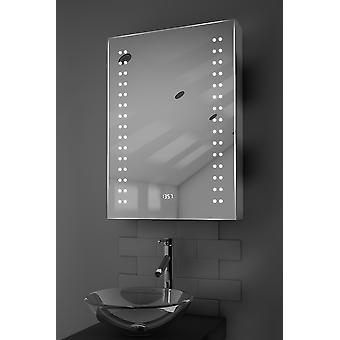 Halina Clock LED szekrény a Demister pad, érzékelő & Shaver k388