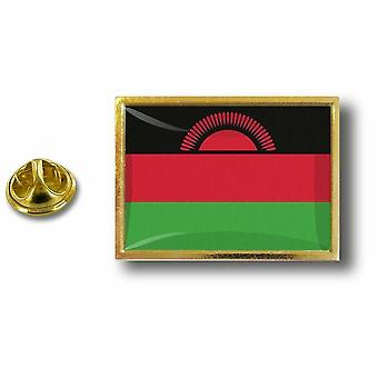 Pins Pin Badge Pin's Metal  Avec Pince Papillon Drapeau Malawi