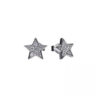 Diamonfire Silver White Zirconia Star Earrings E5613