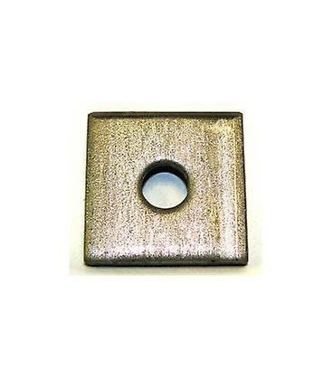 Single Hole Plate / Washer T316 Stainless Steel 50x50x6 Mm - 12 Mm Hole