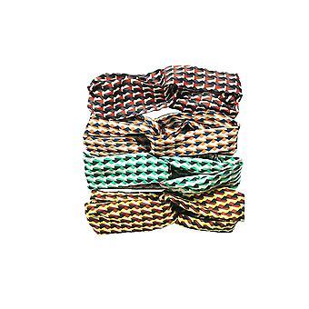 Jewelcity Abstract Geometric Print Headbands (Pack of 10)