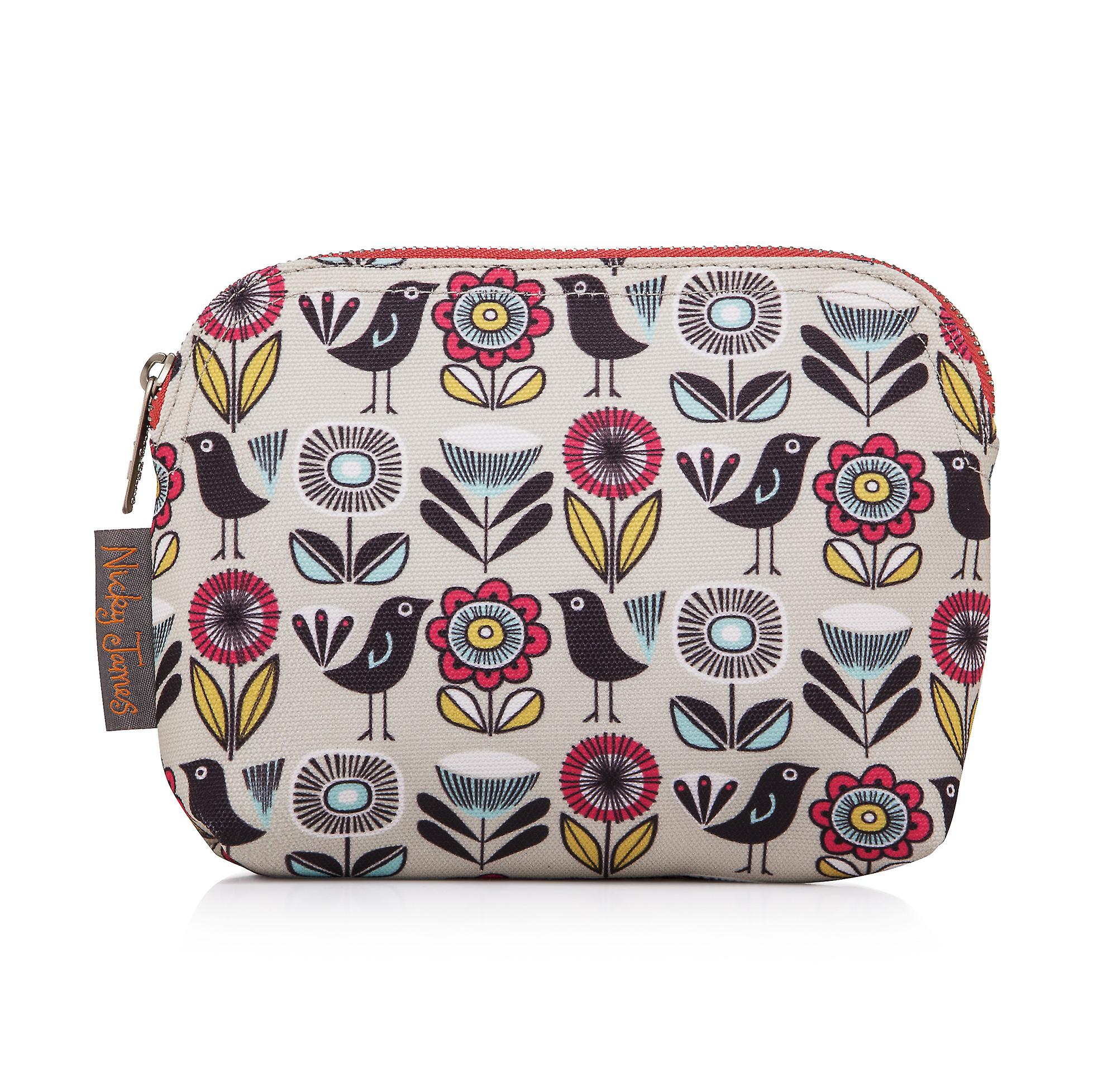 Nicky James Fifties Floral Canvas Make-Up Bag