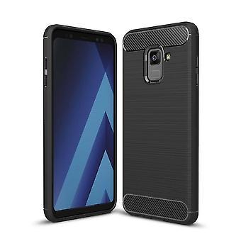 Hull för Samsung Galaxy A8 (2018) Svart och flexibel
