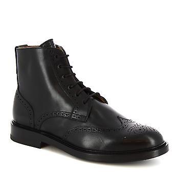 Leonardo kengät naiset ' s käsintehdyt pitsi-UPS saappaat puolella zip musta vasikka nahka