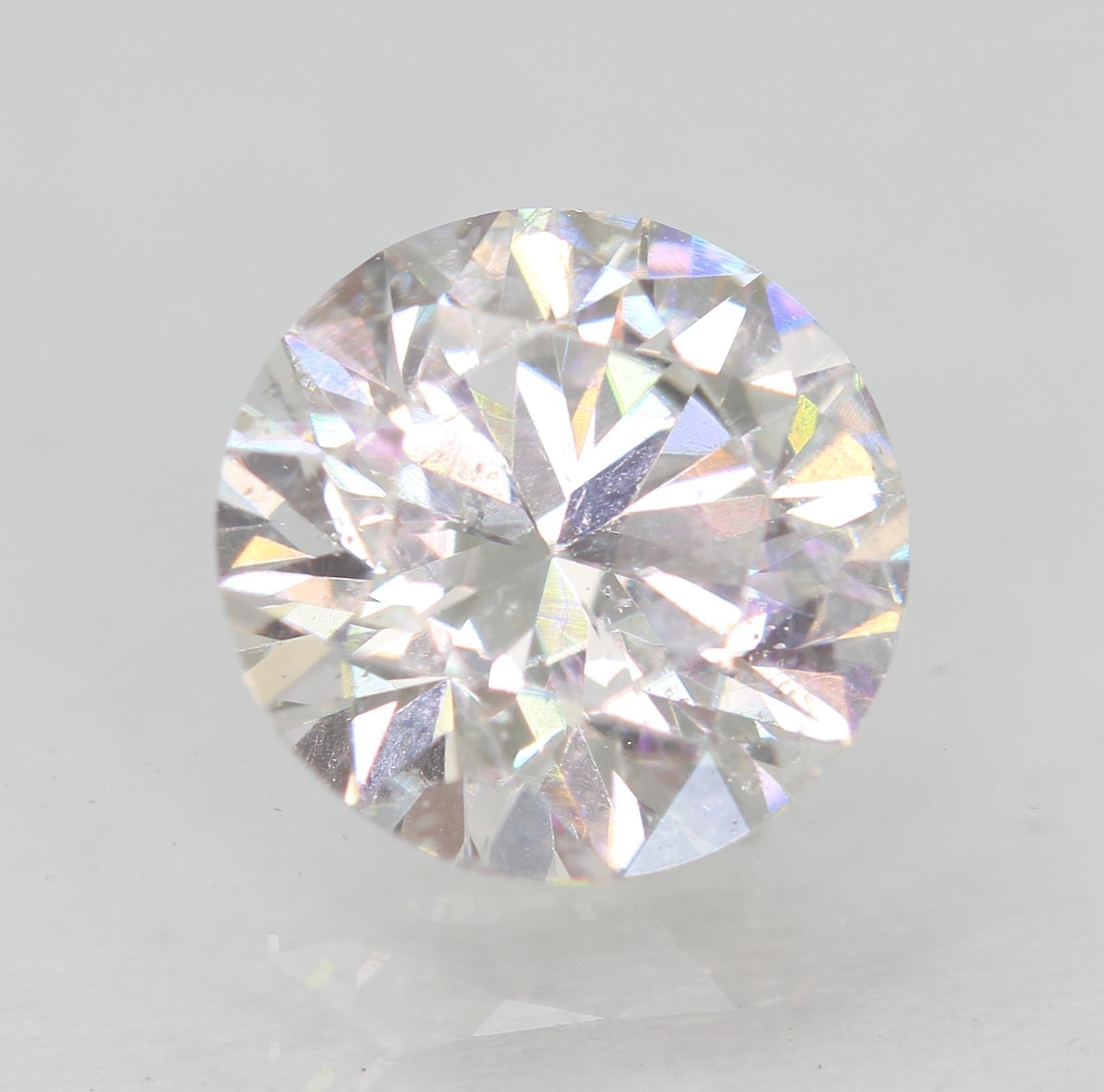 Certified 1.07 Carat E VS2 Round Brilliant Enhanced Natural Loose Diamond 6.62mm