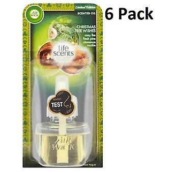 6 X Air Wick Electrical Plug In Air Freshener Oil Refills