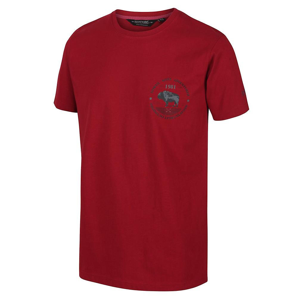 Regatta Men/'s Cline IV Graphic T-Shirt Blue