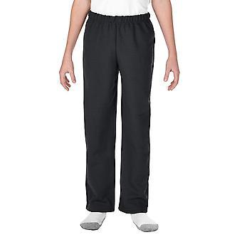 Gildan unisex-child Big Open Bottom Youth Sweatpants, Black,, Black, Size Large