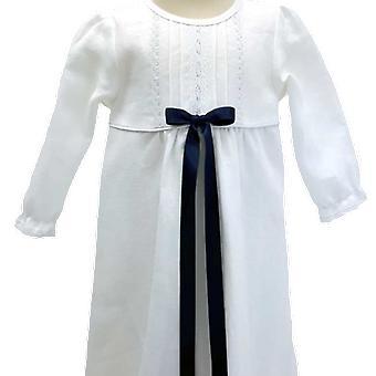 Dopklänning, Grace Of Sweden, Med Smal Marin Doprosett   Tr.v.